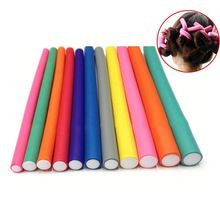 10 Unids/set Rulo Flexi Sticks Magic Roller Pelo Aire Rizador Suave Espuma Giro Barras de Cabello DIY Que Labra la Herramienta HS11(China)