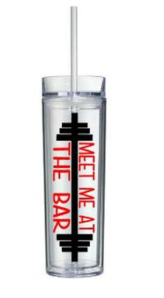 Fitness Water Bottle, Meet Me At The Bar, FREE SHIPPING, Custom Water Bottle, Personalized Water Bottle, Valentines Day Gift, Fitness Gifts $21.95