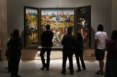 El tríptico 'El jardín de las delicias', obra de El Bosco datada entre 1500 y 1505, en el Museo del Prado de Madrid.
