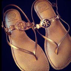 Gold Tory Burch sandals
