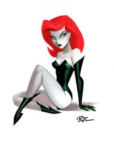 Poison Ivy by Bruce Timm  love this representation of Poison Ivy love her as well :3333