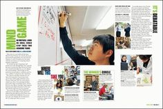 Student Life Layout- This has a great mixture of text, whitespace, and photos.