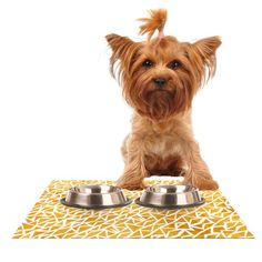 Kess InHouse Pom Graphic Design 'Tribal Origin' Feeding Mat for Pet Bowl, 24 by 15-Inch ** Be sure to check out this awesome product. (This is an affiliate link and I receive a commission for the sales) #Dogs