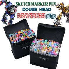 best price touchnew 30364048607280 colors dual headed marker set animation manga design school #designer #pens