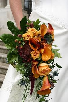 Flower Design Events.  Ooh Ooh! I actually like this bouquet! Perfect fall colors too