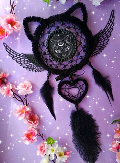 Your place to buy and sell all things handmade Making Dream Catchers, Dream Catcher Decor, Dream Catcher Boho, Dream Catcher Tutorial, Beautiful Dream Catchers, Mandala, Goth Home Decor, Purple Themes, Wine Bottle Crafts