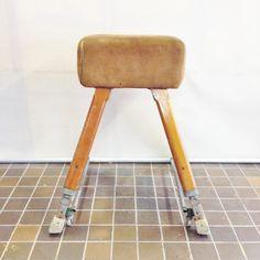 Vintage Industrial School Gymnastic Small Pommel Horse Dispaly by TheGrungeMonkey on Etsy