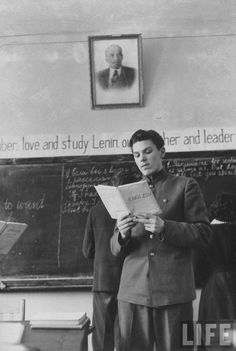 English lesson in Soviet school, 1958