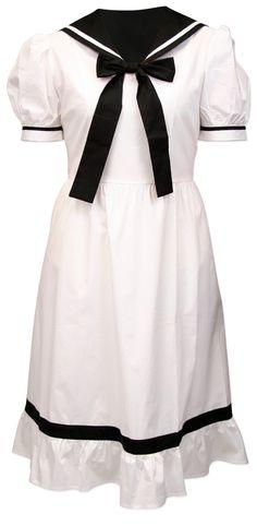 Ladies 1900s Bathing Suit, White - $49.95