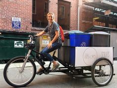 In less than a month, Scraps, a bicycle-powered food waste pick-up service, has prevented more than 2,000 pounds of compostable waste from entering local landfills.