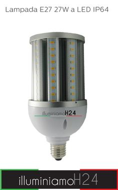 Lampada E27 27W a LED IP64 - 6000°K Cool White