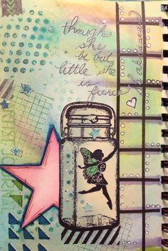 She be fierce art journal page by Lettie Cox