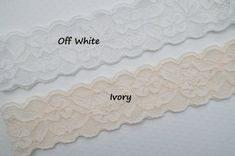 Rustic Garter Set Ivory Wedding Garter Set Lace by OneFancyDay