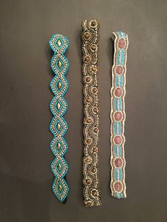 Beautiful Beaded Headbands available in multiple color combinations