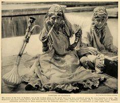 "Dancers of Kashmir,"" a captioned photo, 1928"