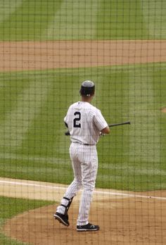 Jeter stepping up to the plate.