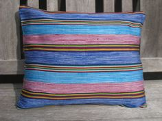 Throw Pillow Cover 12 x 16 - Authentic African Kente - Beautiful Accent Couch, Futon, Bed. $20.00, via Etsy.