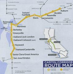 capitol corridor train to bart | ... Corridor Route Map | High Quality Maps of Capital Corridor Route
