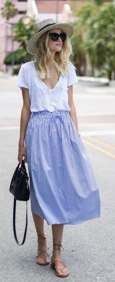 Perfect summer skirt #style_2017_mom