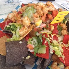 Shrimp Nachos @ Marlin Monroes, Tybee Island. We spent a lot of time at this resturant!