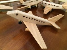 Handrcrafted Toy Airplane by GoldfarbWoodCrafts on Etsy
