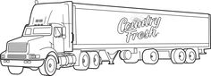 coloring pages of 18 wheelers trucks | semi truck drawings | Semi1 Clipart and Vectorart ...