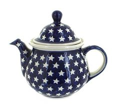 Polish Pottery Stars Large Teapot *** You can find out more details at the link of the image.(This is an Amazon affiliate link and I receive a commission for the sales)