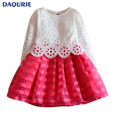 New Europe 2017 spring YACODI fashion christmas Grils dress long-sleeve dress girl clothes lace hollow elsa cute party dresses ~ Shop now for Xmas. Find out more on  AliExpress.com. Just click the image. #xmasgiftwrap