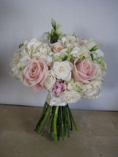 Bouquet with hydrangea,lisianthus, spray roses,