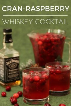 Whiskey Cocktail   Cocktail recipes for a crowd   easy cocktail recipes   whiskey cocktail recipes   whiskey drinks   easy whiskey cocktails   whiskey cocktails recipes   whiskey drinks   whiskey cran raspberry cocktail #cocktailrecipes