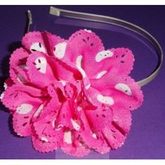 $7 A lovely white dot flower on a teal satin headband. #flower #headband #hairclip