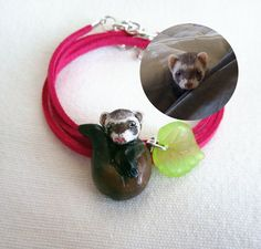 Ferret portait Custom portrait of your pet by FlowerLandShop,