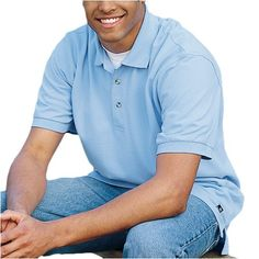 Port Authority Men's Pique Knit Polo  //Price: $ & FREE Shipping //     #sports #sport #active #fit #football #soccer #basketball #ball #gametime   #fun #game #games #crowd #fans #play #playing #player #field #green #grass #score   #goal #action #kick #throw #pass #win #winning