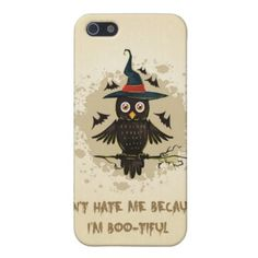 Halloween Owl with Hat iPhone 5 Cases