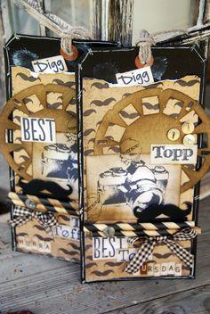 Stempelgalsverden DT bidrag for Papirdesign. Card Tags, Cards, Handmade Tags, My Scrapbook, Texture, Inspiration, Books, Men, Creative