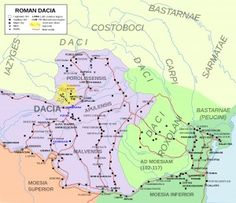 Map of Roman #Dacia