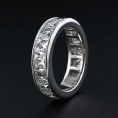 5.30 Carat French-Cut Diamond Platinum Wedding Band?.. Gorgeous.