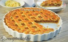 Rácsos almás pite recept fotóval