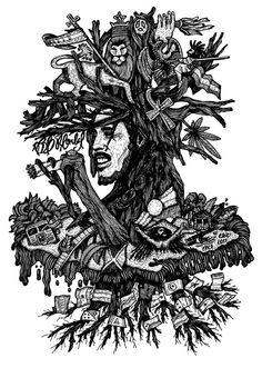 Dibujo Homenaje a Bob Marley on Behance