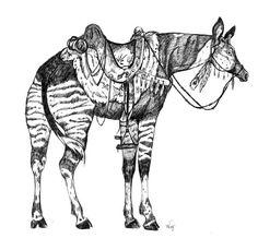 Okapi Saddled by korat