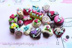 Kawaii Cutie Tea and Cakes Charm Collection 20 by CharmsByIzzy, £10.00