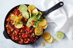 for an easy family dinner try this vegan and vegetarian friendly chilli con carne which is ready in under an hour Vegan Chilli Recipe, Chilli Recipes, Vegan Chili, Vegetarian Recipes, Vegan Meals, Burger Recipes, Pizza Recipes, Easy Recipes, Keto Recipes
