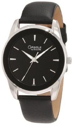 Men's Wrist Watches - Caravelle by Bulova Mens 43A101 Leather strap Watch * You can get additional details at the image link. (This is an Amazon affiliate link)