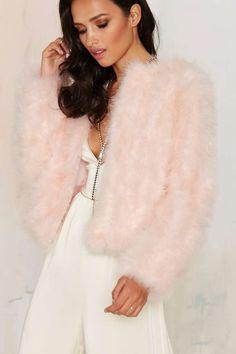 J.O.A. Under the Feather Jacket - Clothes | Party Shop | Faux Fur | Fur