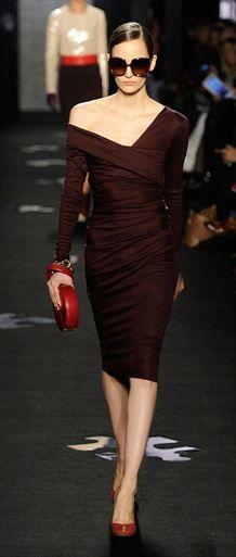 Diane von Furstenburg, such a rich lovely color, Beautiful, sophisticated!