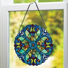 """Stained Glass Mini Window Panel-12"""""""