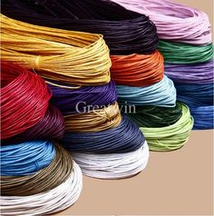 16 Colors  Choice 10 meters 1.5MM Waxed Leather Thread Wax Cotton Cord String Strap Necklace Rope Bead For shamballa Bracelet