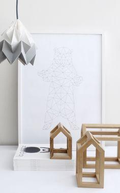 Not only for kids... PEEKANDPACK.COM Kajakaja posters - Mad Lab - Studio Snowpuppe Lamps - La Petite Mag.