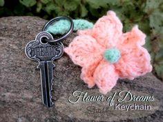 Flower of Dreams Keychain - free crochet pattern.