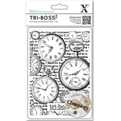 Steampunk  Clocks/Pocket Watches  Embossing Folder  A6  at CrazyCraftyCreators, $4.99